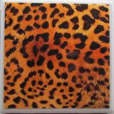 Set of 4 - Natural Stone Ceramic Tile  Marble Drink Coasters - Skin Prints 2 -B