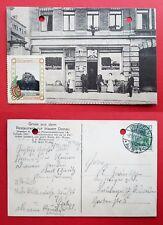 AK DRESDEN Plauen 1911 Restaurant zur blauen Donau mit Reklame Schild RAR( 22147