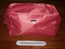 TARTE PEACH CORAL COSMETIC MAKE UP BAG 10.5 X 6.25 X 4.75 LARGE NEW STORES FLAT