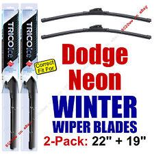 WINTER Wiper Blades 2-Pack Premium - fit 2000-2005 Dodge Neon - 35220/35190