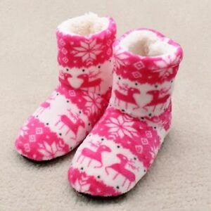 Winter Woman Home Slippers Christmas Indoor Warm Cotton Plush Soft Slippers