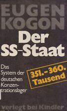 EUGEN KOGON - DER SS-STAAT Das System der deutschen Konzent- VERLEGT BEI KINDLER