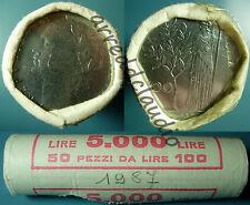 ITALIA ROTOLINO ROLL 50 X 100 LIRE MINERVA FDC 1987