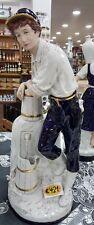 Porzellan Figur royal dux Mann mit Krug kobaltblau weiß