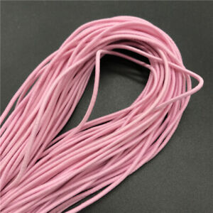 5Yards 2mm Round Elastic Thread Cord Rope Rubber Band Elastic Bands Stretch Line