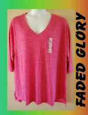 WOMEN'S PLUS SIZE 4X 26W 28W SUMMER WEIGHT SWEATER TOP - CLOTHING NEW