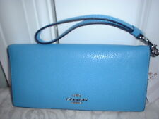 NWT Coach Colorblock Slim Wallet Wristlet 53759 Azure Navy