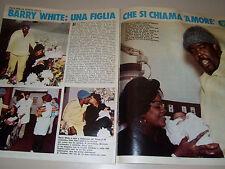 BARRY WHITE cantante singer clipping articolo foto photo 1977