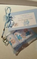 Baby shower /Christening  favour bags organza filled bags x15