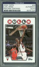 Bulls Luol Deng Authentic Signed Card 2008 Topps #46 Autographed PSA/DNA Slabbed