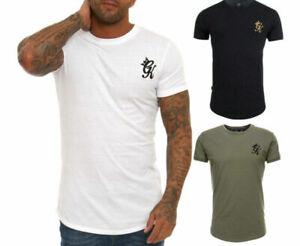 Gym King Mens Short Sleeve Stretch Crew Neck High Build Logo Core T shirt