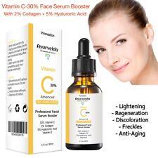 Vitamin C 30% + E + Hyaluronic Acid + 2% Collagen -Organic Face Serum-Cream