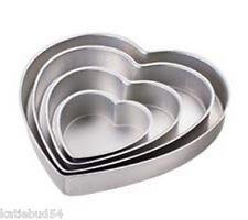 4 Tier Wilton HEART Pan Set Wedding Shower Anniversary #2105-6060
