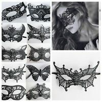 Women Lace Eye Face Black Mask Costume Masquerade Party Fancy Dress Halloween#Q