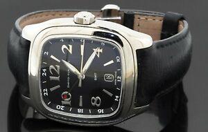 David Yurman Thoroughbred GMT T306 SS auto. men's watch w/ exhibition case back