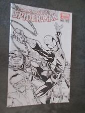 Amazing Spider-man #1  HUMBERTO RAMOS Stan Lee Black and White Variant  NM Fan E