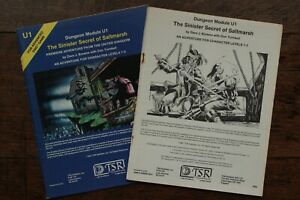The Sinister Secret of Saltmarsh Module AD&D 1st Edition TSR 9062 U1 1981