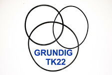 SET BELTS GRUNDIG TK22 REEL TO REEL EXTRA STRONG NEW FACTORY FRESH TK 22