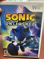 SONIC UNLEASHED (NINTENDO WII, 2008)!!!! W/CASE -NO MANUAL-RESURFACED!!!