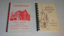 2 Vintage Cook Books - Benicia Peddler's Fair, CA and PTA Annunciation School