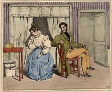 Jean-Gabriel Scheffer Bouderie Couple Mariage lithographie Langlumé
