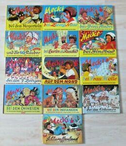 Mecki Bücher Sammlung Negerlein Zwerg Nase Sindbad Frau Holle 7 Zwerge Aladin