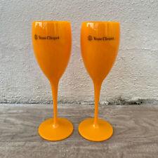 2 x Veuve Cliquot Clicquot Orange Glasses Flutes Cup Ice Champagne 0407201