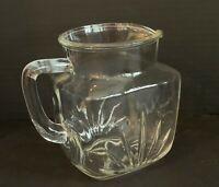 Vintage FEDERAL Glass 1 Quart Square Starburst Star Juice Tea Milk Pitcher NICE!