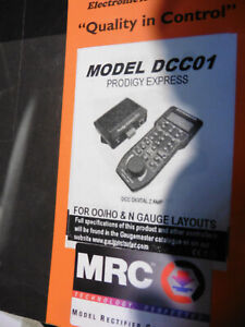 GAUGEMASTER PRODIGY EXPRESS DCC CONTROLLER WITH INSTRUCTIONS