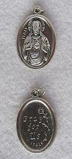 SACRED HEART of JESUS Oxidized Silver Nickel Catholic Patron Saint Medal