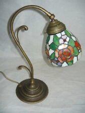 Lampada abatjour abat-jour in ottone vetro TIFFANY