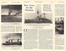 1915 WWI ~ NAVAL WARSHIPS DARDANELLES FORTS MAJESTIC 12inch GUNS FRENCH FLEET