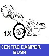 FOR JAGUAR S TYPE 2.7D 3.0 XF XK XKR XK8 FRONT LOWER ARM CENTER DAMPER BUSH