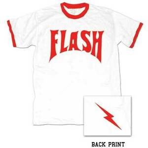 Adult Movie Comic Strip Space Hero Flash Gordon Logo Ringer T-Shirt Tee