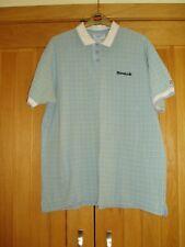 Reebok short sleeved pure cotton blue/green tartan polo top Size (M) L