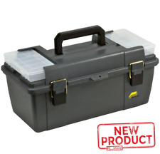 Tool Box W/ Lift Out Tray 20 Inch Storage Organizer Latches Parts Tools Gray