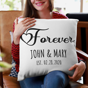Personalized Wedding Gift, Couples Gift, Engagement Gift, Custom Pillow, Persona