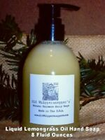 Liquid Pure Lemongrass Oil Hand Soap, 8 Fl Oz, 1 Bottle, Also Used As Body Wash