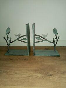 Pair Of Bird Book Ends  Metal, Dunelm, Bird Design,  Green.