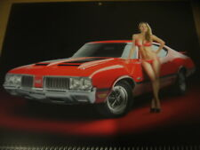 2019 MUSCLE CAR AND GIRL CALENDAR FREE SHIPPING