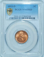 1911 D PCGS MS65RD Red Lincoln Wheat Cent