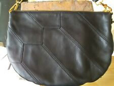 HOBO International Cisco Black Leather Zip Woven Handle Shoulder Bag - New-$249