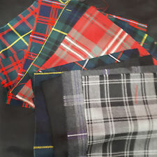 Wool Tartan Fabric  Multicoloured Squares 15 Pieces   Accessories - Bags/Purses