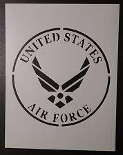 "US U.S. United States Air Force 8.5"" x 11"" Stencil FAST FREE SHIPPING"