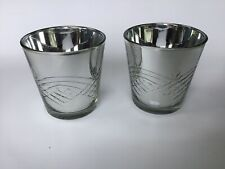 Virgin Vie Provence Silvered Glass Tealight Holders Boxed