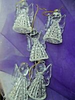Vintage Christmas Light Covers - 5 CLEAR PLASTIC ANGEL LIGHT COVERS