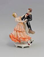 9941862 Porzellan Figur Ens Tanzpaar Walzer-Paar rot H22cm