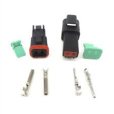 10 Sets Kit Black Deutsch DT 2 Pin Waterproof Electrical Wire Connector Plug Kit