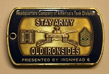 1st Armored Americas Tank Division Germany ser#144 Commander Army Challenge Coin
