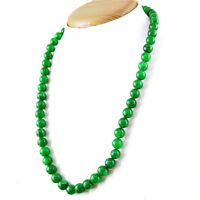 Earth Mined 915.00 Cts Green Jade 4 Line Round Shape Untreated Beads Necklace